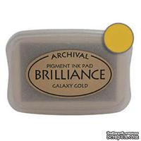Чернила для штампинга Tsukineko - Brilliance Pearlescent Galaxy Gold, большие