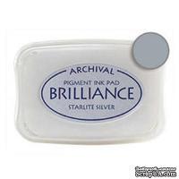 Чернила для штампинга Tsukineko - Brilliance Starlite Silver, большие