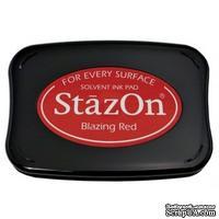Перманентные чернила Tsukineko - StazOn Pads Blazing Red