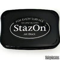 Перманентные чернила Tsukineko - StazOn Pads Jet Black