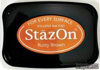 Перманентные чернила Tsukineko - StazOn Pads Rusty Brown