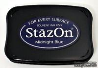 Перманентные чернила Tsukineko - StazOn Pads Midnight Blue