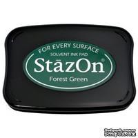 Перманентные чернила Tsukineko - StazOn Pads Forest Green
