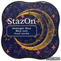 Чернила Tsukineko StazOn Midi Ink Pad - Midnight Blue