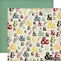 Лист скрапбумаги от Echo Park - Ampersand, Times & Seasons 2, 30х30см