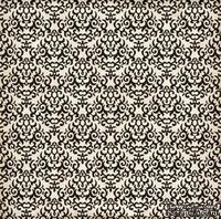 Лист скрапбумаги от Echo Park - BLACK DAMASK, 30х30 см