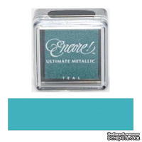 Чернила Tsukineko Encore Ultimate Metallic Small Ink Pad - Teal