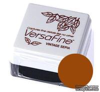 Пигментные быстросохнущие чернила Tsukineko - VersaFine 1in Cube Pads Vintage Sepia