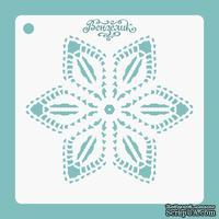 Трафарет 01 для творческих работ из прозрачного пластика от Вензелик, 155x155 мм
