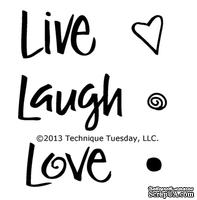 Набор акриловых штампов Technique Tuesday - Live Laugh Love by Lori Vliegen
