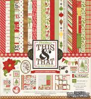 "Набор бумаги от Echo Park ""Christmas Kitcover"", 30x30, 12 листов"