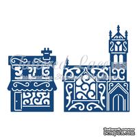 Ножи для вырубки от Tattered Lace - Panorama Church and Shop - Панорама Церковь и магазин