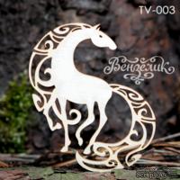 Чипборд от Вензелик - Конь, размер: 55x63 мм