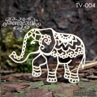 Чипборд от Вензелик - Слон, размер: 58x41 мм