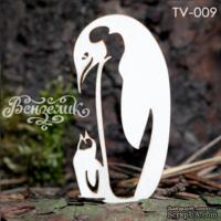 Чипборд от Вензелик - Пингвины, размер: 34x64 мм