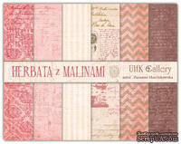 Набор бумаги UHK Gallery - Herbata z malinami, 30х30 см, 6 листов - ScrapUA.com