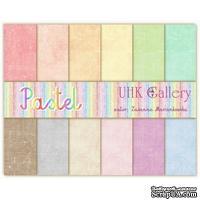 Набор двусторонней скрапбумаги UHK Gallery - Pastel, 6 листов - ScrapUA.com