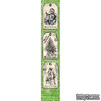 Полоска бумаги UHK Gallery - Ho Ho Holmes, зеленый фон, размер 30х5.5 см