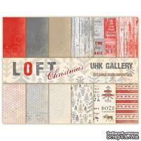 Набор двусторонней скрапбумаги UHK Gallery - LOFT Christmas, 30,5х30,5 см, 6 листов - ScrapUA.com