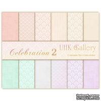 Набор двусторонней скрапбумаги UHK Gallery - Celebration 2, 30,5х30,5 см, 6 листов