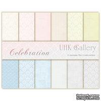 Набор двусторонней скрапбумаги UHK Gallery - Celebration, 30,5х30,5 см, 6 листов
