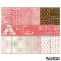 Набор двусторонней скрапбумаги UHK Gallery - Allo Allo, 30,5х30,5 см, 6 листов - ScrapUA.com