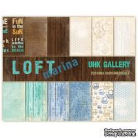 Набор двусторонней скрапбумаги UHK Gallery - LOFT Marina, 30,5х30,5 см, 6 листов