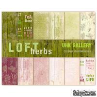 Набор двусторонней скрапбумаги UHK Gallery - LOFT Herbs, 30,5х30,5 см, 6 листов