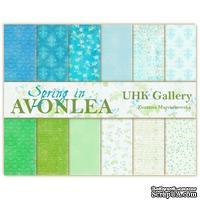 Набор двусторонней скрапбумаги UHK Gallery - Spring in AVONLEA, 30,5х30,5 см, 6 листов