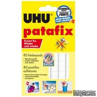 Фиксирующие подушечки UHU Patafix, белые, 80 шт.