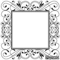 Резиновый ШТАМП Sue Wilson - Delicate Deco Square