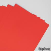 Двусторонний лист бумаги, цвет красный, размер А4, 120гр/м.кв