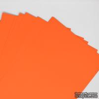 Двусторонний лист бумаги, цвет оранжевый, размер А4, 120гр/м.кв