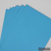 Двусторонний лист бумаги, цвет голубой, размер А4, 120гр/м.кв