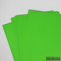 Двусторонний лист бумаги, цвет зеленый, размер А4, 120гр/м.кв