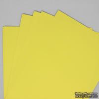 Двусторонний лист бумаги, цвет лимонный, размер А4, 120гр/м.кв
