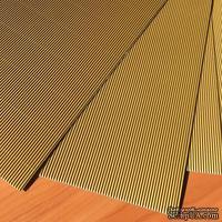 Картон гофрированный мелкий,  плотность 300г, размер 20х30см, цвет золотой