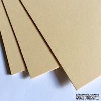 Лист картона, цвет: кремовый, плотность 300 г, 20х30 см, 1 шт.
