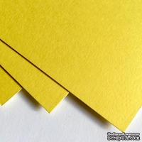 Двухсторонний лист картона, размер: 20х30 см, цвет: желтый лимонный, плотность 300 г, 1 шт.