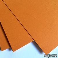 Двухсторонний лист картона, размер: 20х30 см, цвет: оранжевый, плотность 300 г, 1 шт.