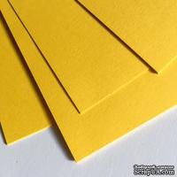 Двухсторонний лист картона, размер: 20х30 см, цвет: желтый солнечный, плотность 300 г, 1 шт.