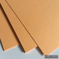 Двухсторонний лист картона, размер: 20х30 см, цвет: абрикосовый, плотность 300 г, 1 шт.