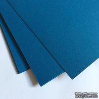 Двухсторонний лист картона, размер: 20х30 см, цвет: синий светлый, плотность 300 г, 1 шт.