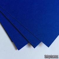 Двухсторонний лист картона, размер: 20х30 см, цвет: голубой темный, плотность 300 г, 1 шт.