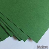 Двухсторонний лист картона, размер: 20х30 см, цвет: зеленый тропик, плотность 300 г, 1 шт.