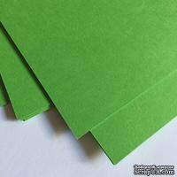 Двухсторонний лист картона, размер: 20х30 см, цвет: зеленый лайм, плотность 300 г, 1 шт.