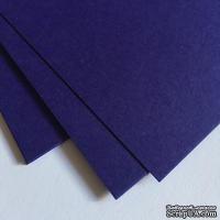 Двухсторонний лист картона, размер: 20х30 см, цвет: фиолетовый, плотность 300 г, 1 шт.