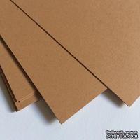 Двухсторонний лист картона, размер: 20х30 см, цвет: коричневый светлый, плотность 300 г, 1 шт.