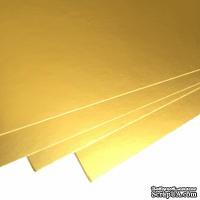 Двухсторонний лист картона, размер: 20х30 см, цвет: золото, плотность 300 г, 1 шт.