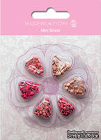 Набор брадсов от URSUS, размер 3 мм, цвет: оттенки розового,  120шт.
